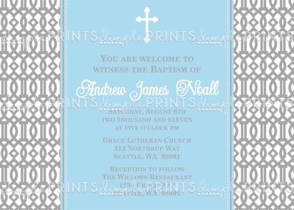 Printable Baptism Invitation Description