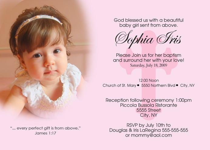 Printable Baptismal Invitation