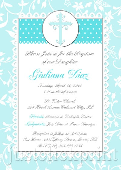 Printable Christening Invitation Description