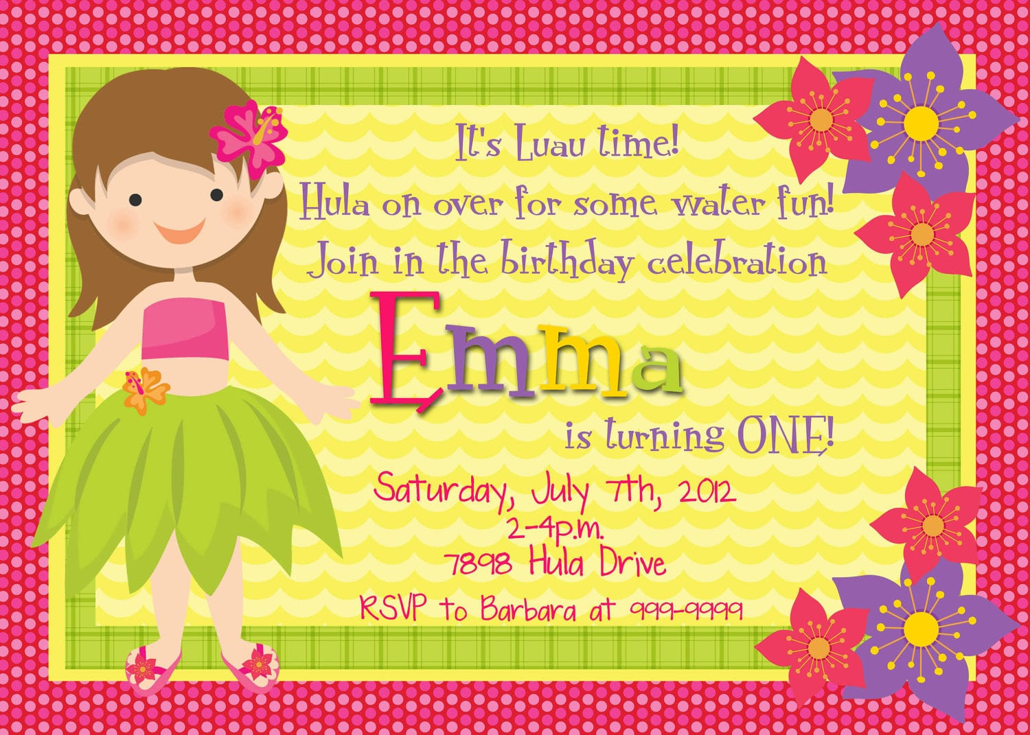 Printable Hawaiian Invitations Free