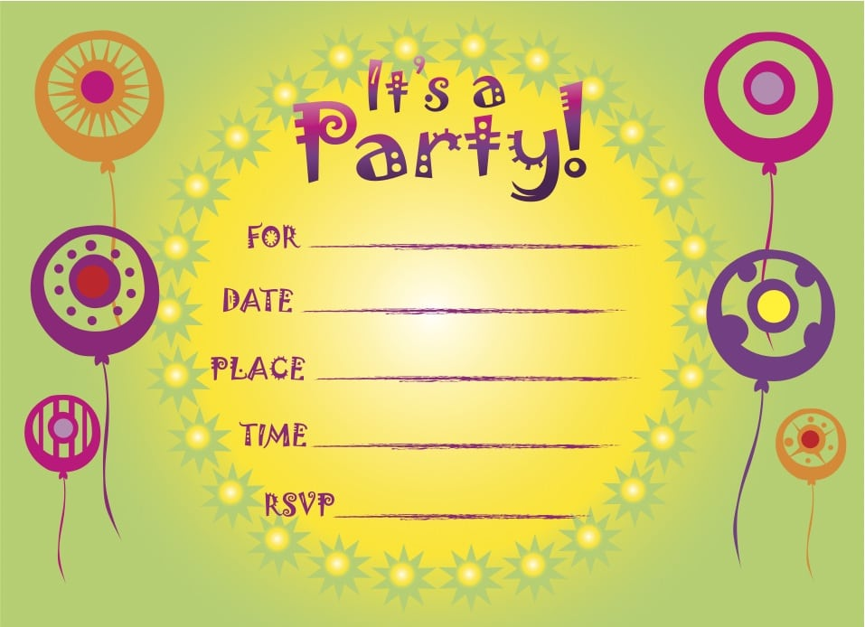 Printable Kids Birthday Invitation