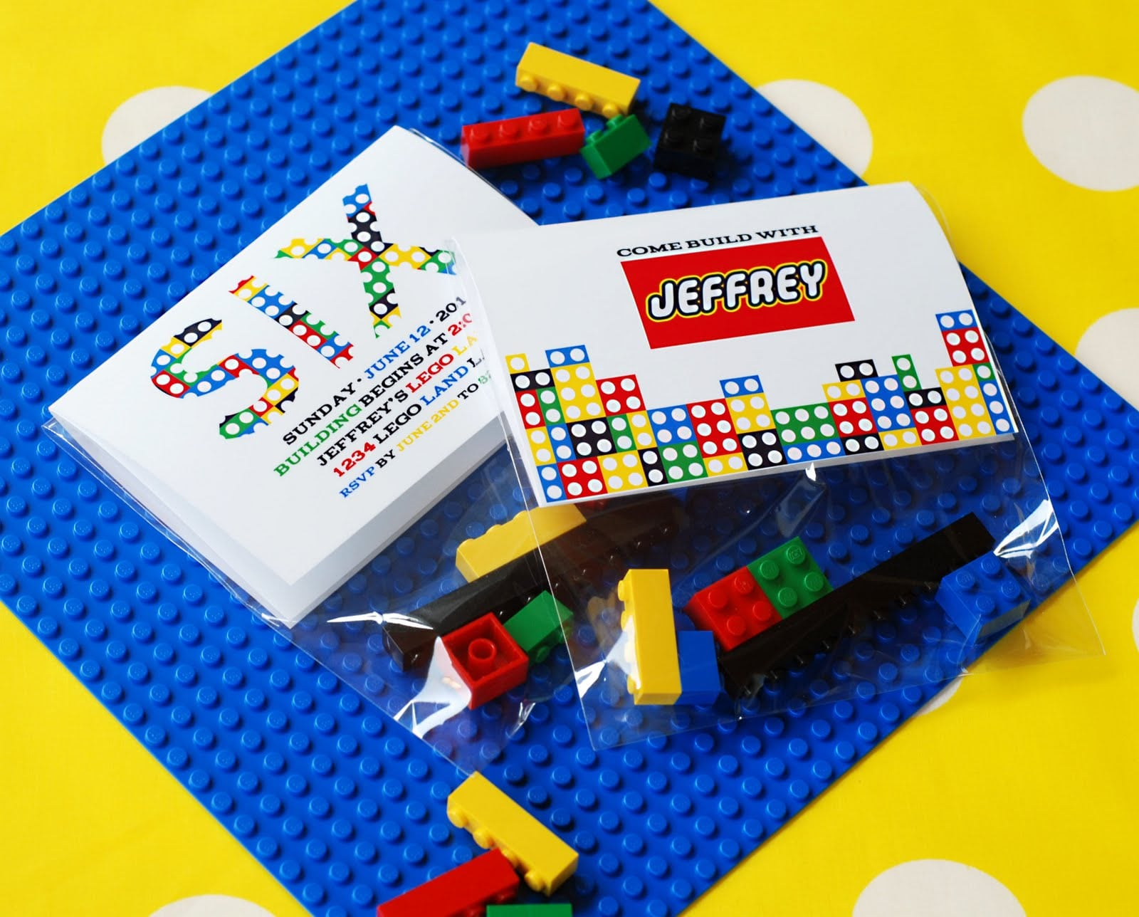 Printable Lego Themed Birthday Invitations