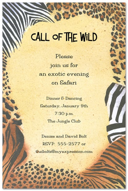 Printable Leopard Print Invitations