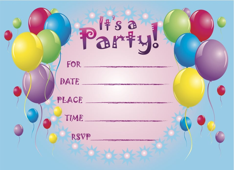 Printable Party Invitation For Kids