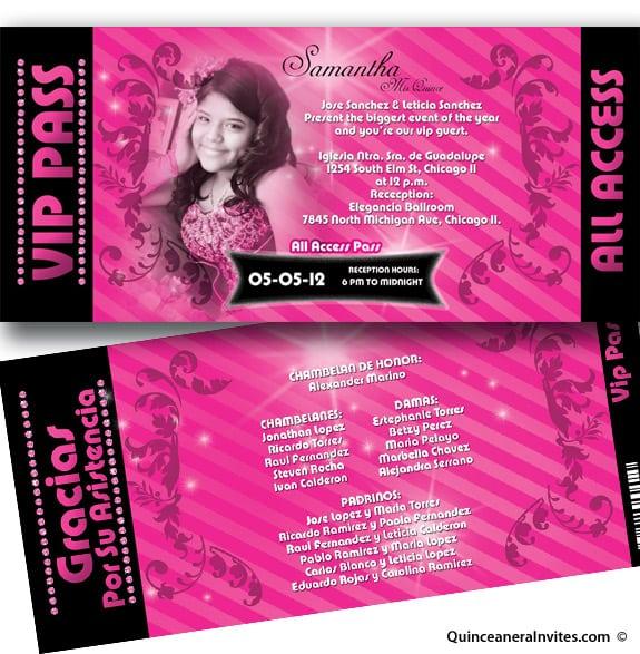 Printable Quinceanera Invitation Templates