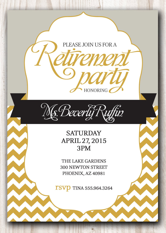 Printable Retirement Party Invitations