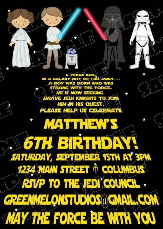 Printable Star Wars Party Invitations