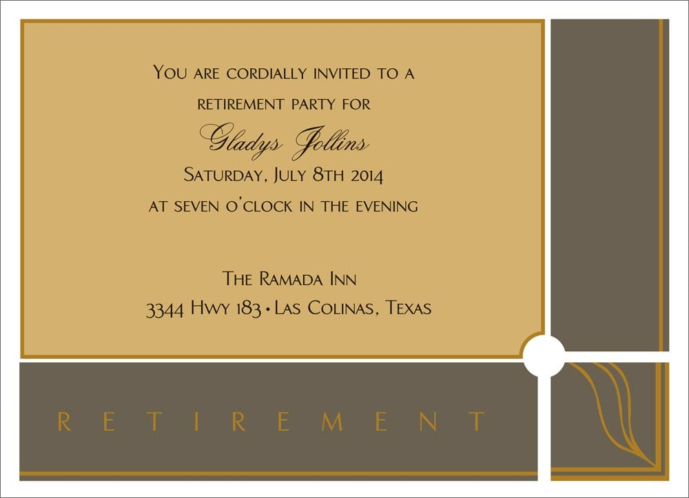 Retirement Invitation Announcement