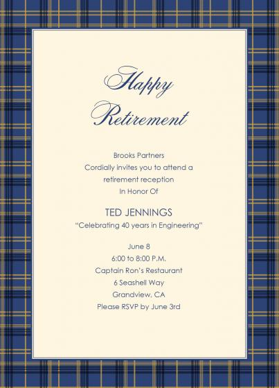 Retirement Invitation Card Samples