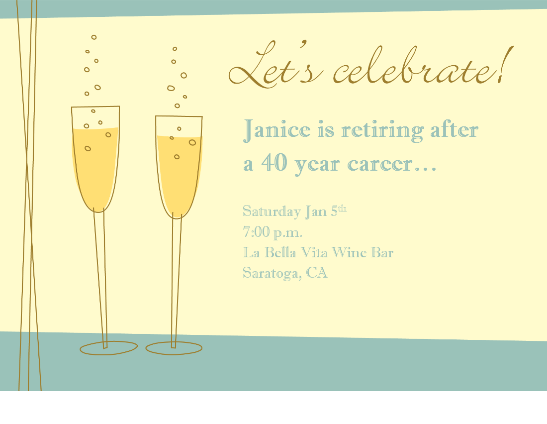 Retirement Invitation Free Template