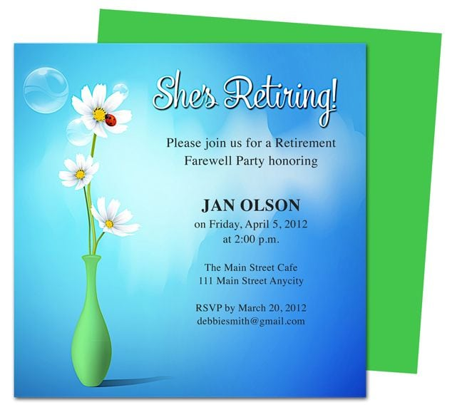 Retirement Invitation Template Publisher