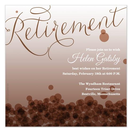 Retirement Party Invitation Card Templates
