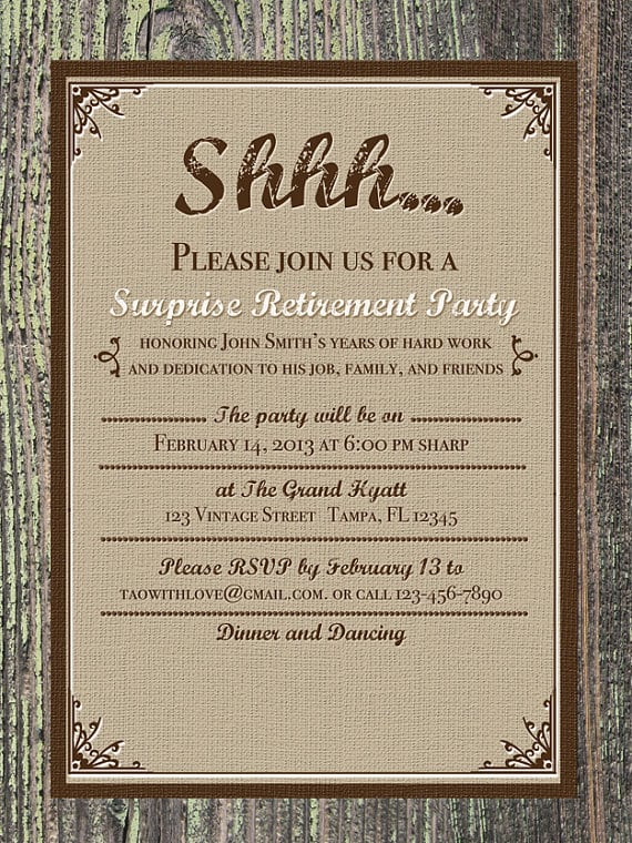 Retirement Party Invitation Flyers