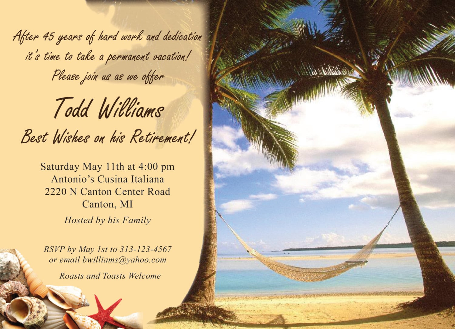 Retirement Party Invitation Sample For A Man