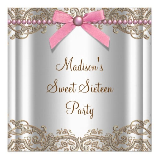 Sample Sweet 16 Party Invitation Verses Wording