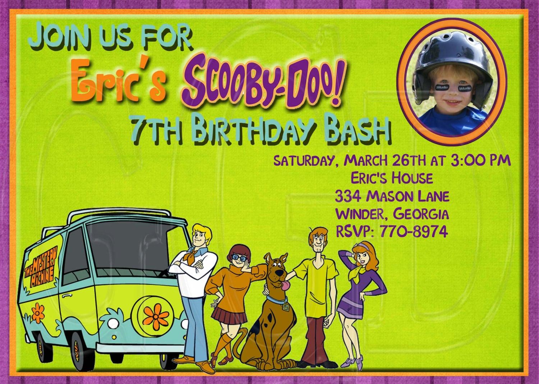 Scooby Doo Invitation Template Free