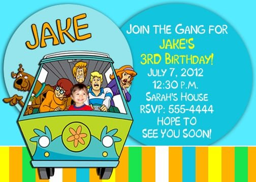 Scooby Doo Party Invitation Wording