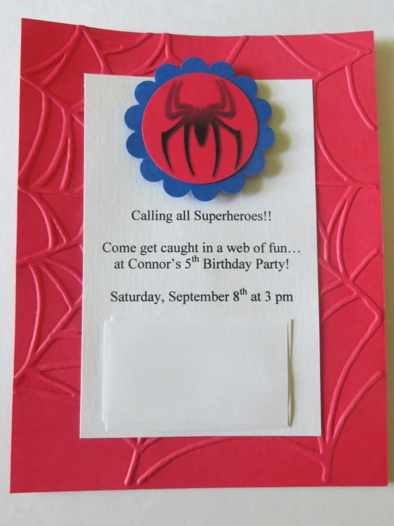 Spiderman Birthday Party Invitations Templates