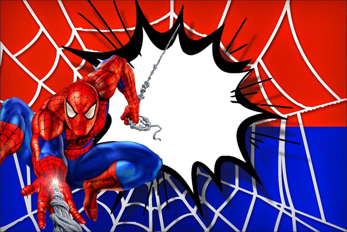 Spiderman Invitation Cards Printable