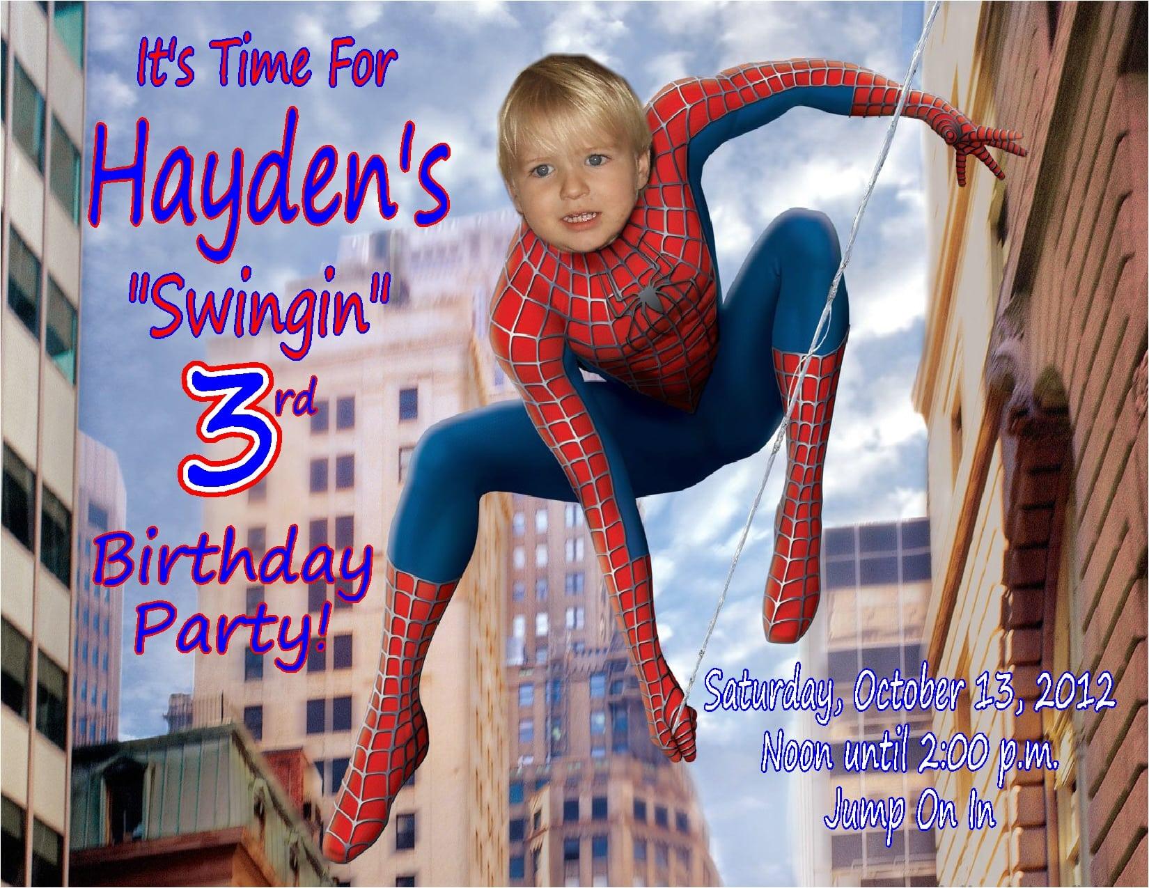 Spiderman Template Invitation - Spiderman party invitation template