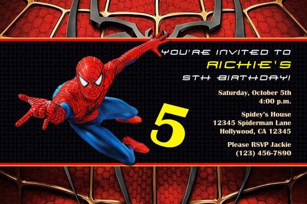 Spiderman Party Invitation Free