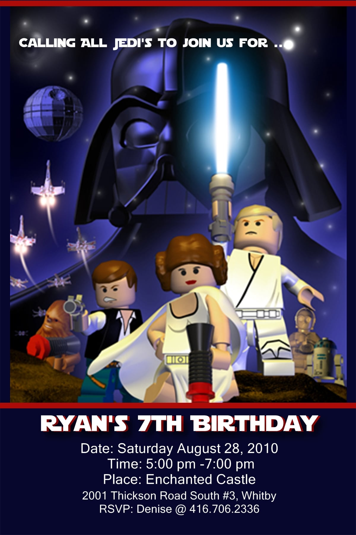 Star Wars Birthday Invitation Template Free