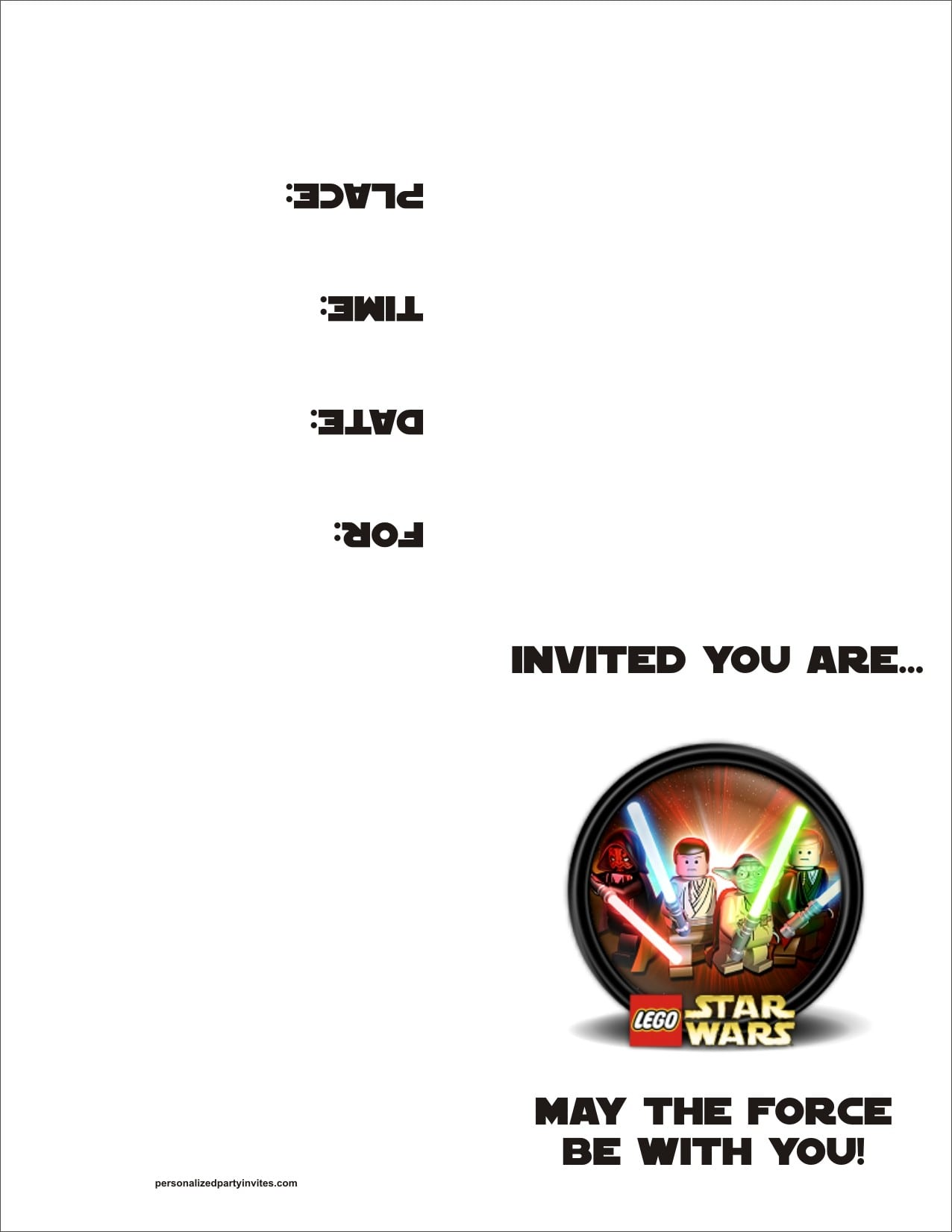 Star Wars Birthday Party Invitation Template Free