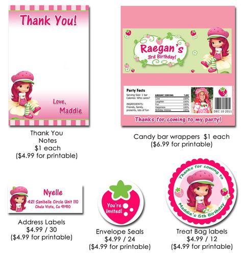 Strawberry Shortcake Printable Invitation Free