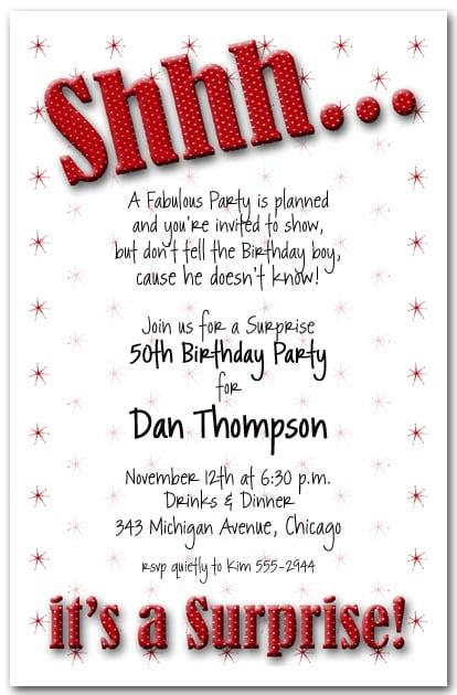 Surprise 60th Birthday Invitations Free