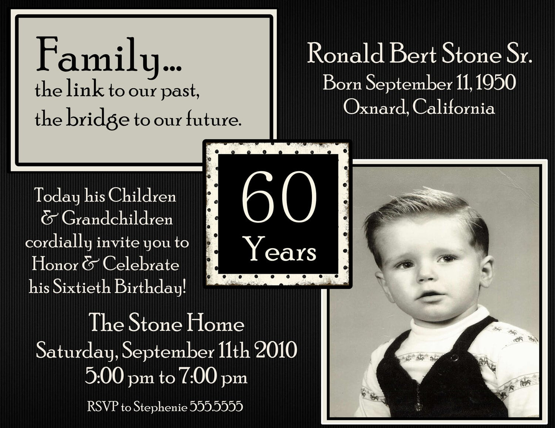 Surprise 60th Invitation