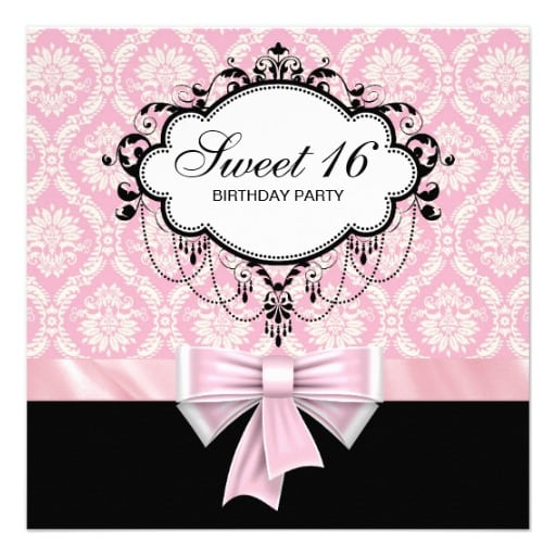 Sweet 16 Party Invitation