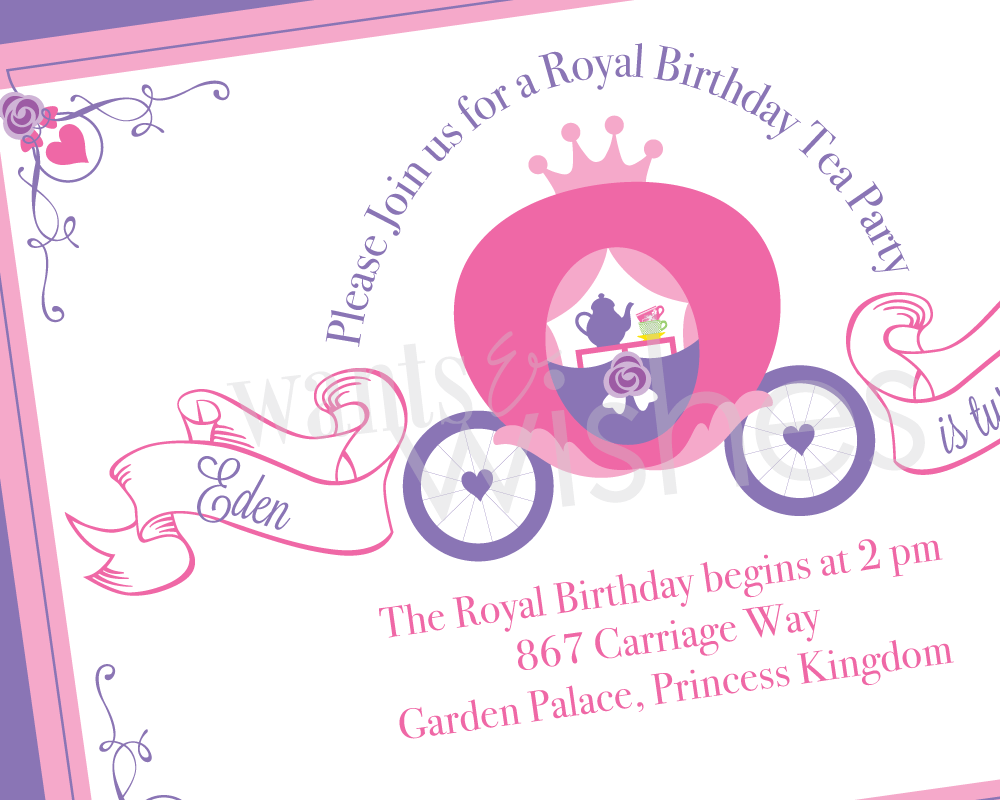 Tea Party Princess Invitations