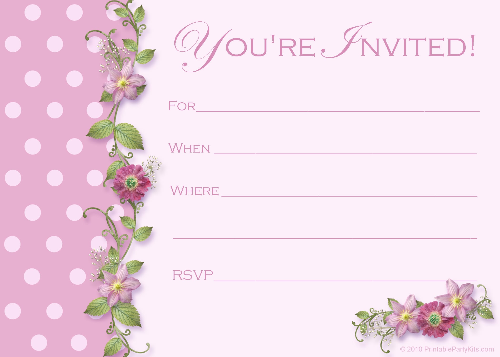 Teenage Birthday Invitation Templates Free