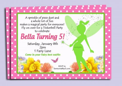 Tinkerbell Baby Shower Invitation Printable