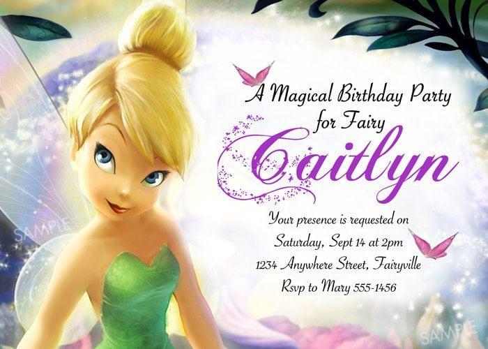 Tinkerbell Birthday Invitations Free