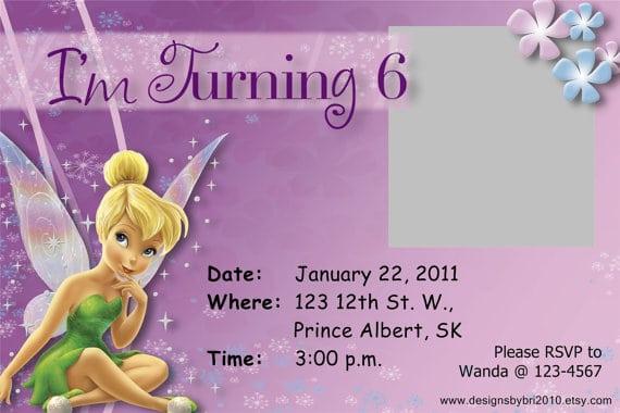 Tinkerbell Birthday Invitations Free Printable