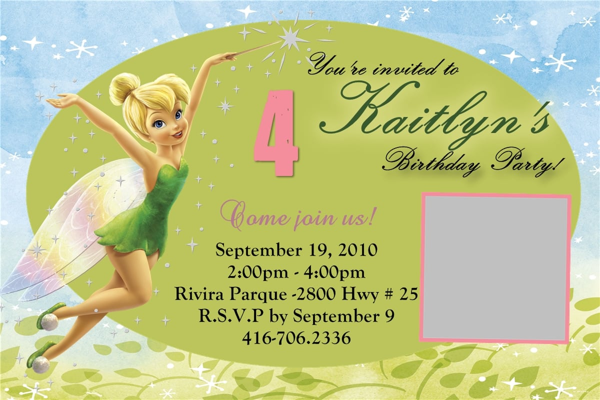 Tinkerbell Party Invitation