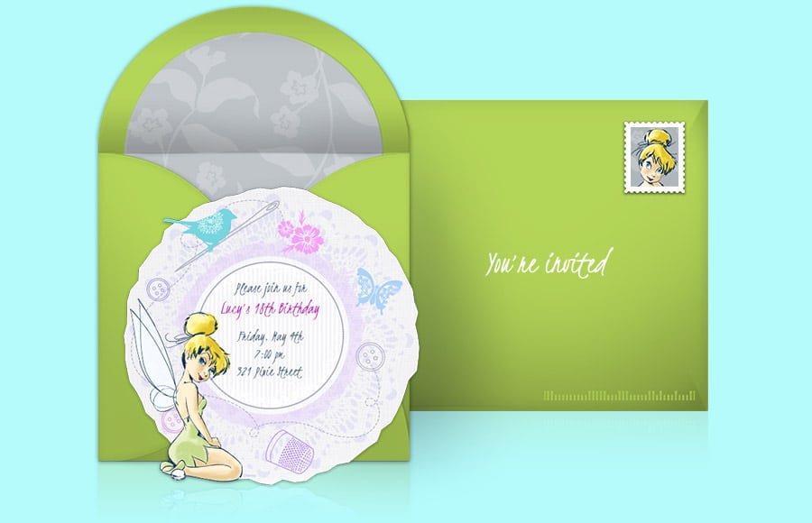 Tinkerbell Invitation Template