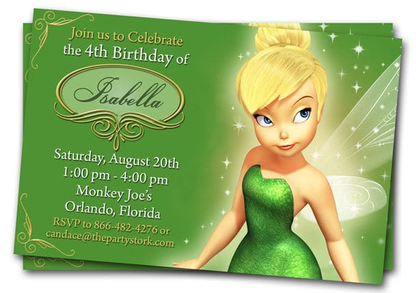 Tinkerbell Printable Birthday Invitations Free
