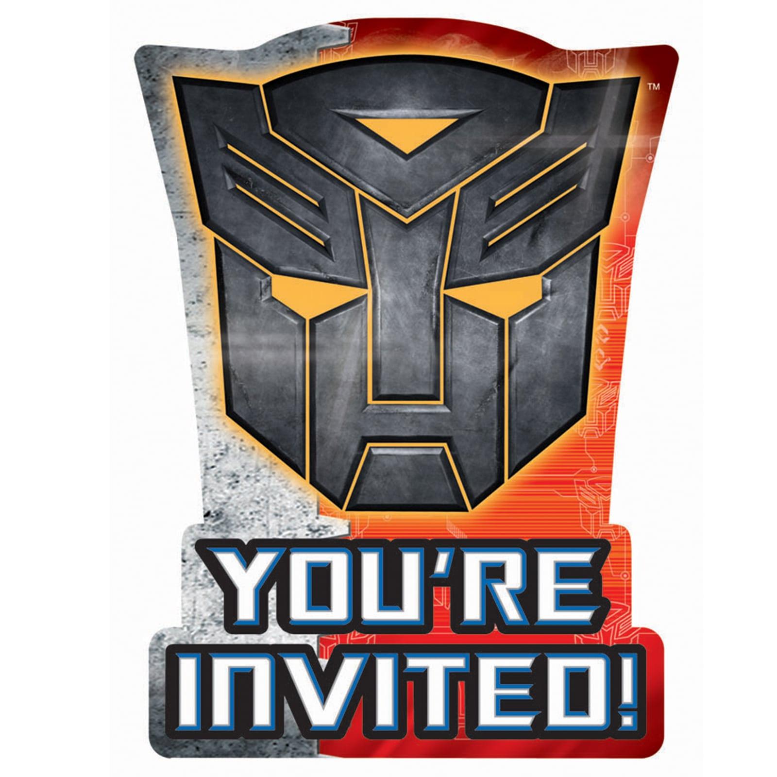 Transformer Party Invitation