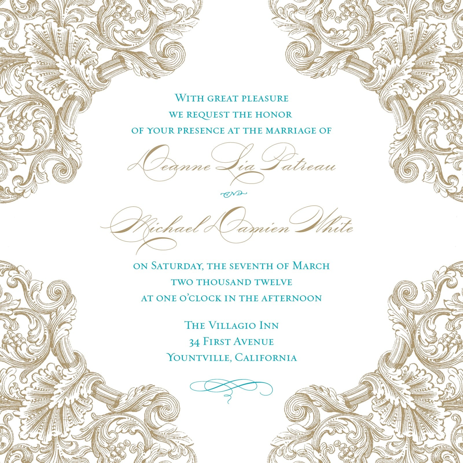 Wedding Invitation Templates Blank: Wedding Invitation Blank Template