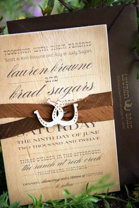 western wedding invitation printable template