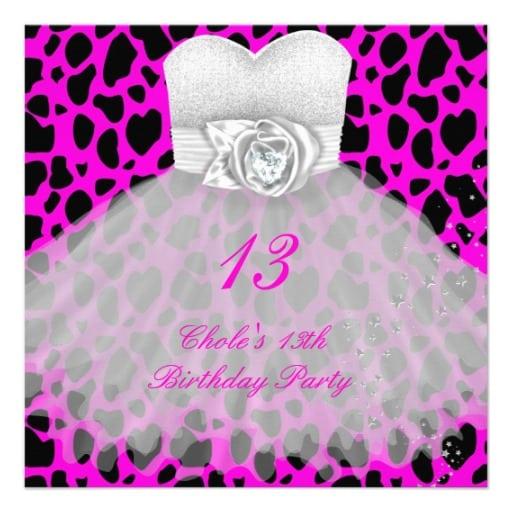 13 Birthday Invitation Card