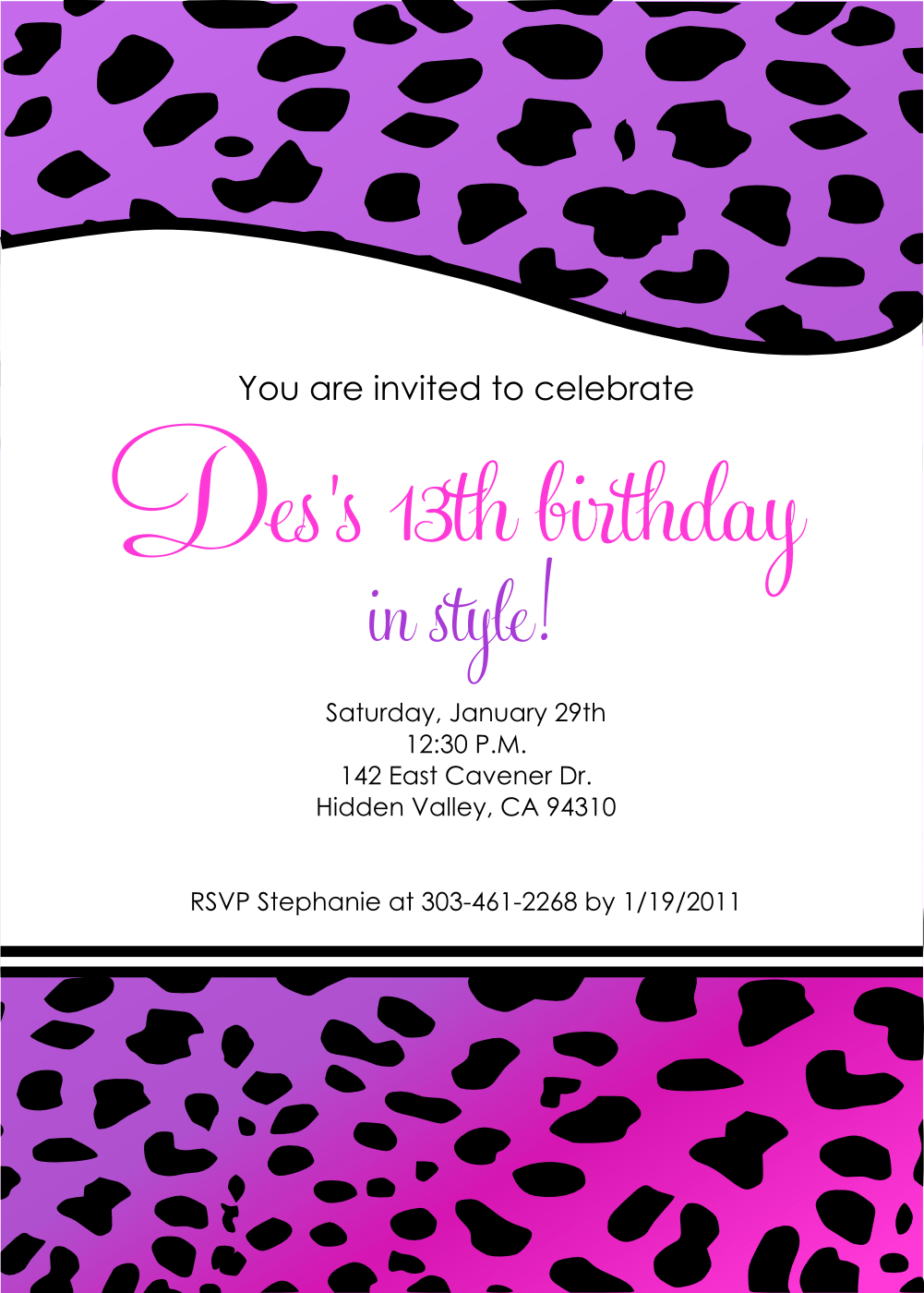 13th birthday invitations templates ctsfashion com birthday invitation template