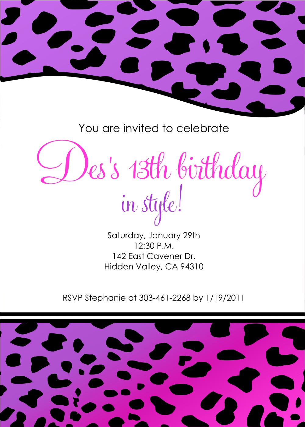 13 Birthday Invitation Templates Free