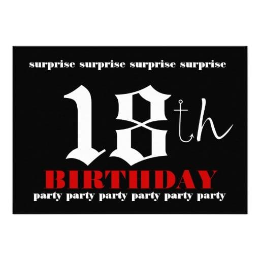 18 Birthday Invitation Template