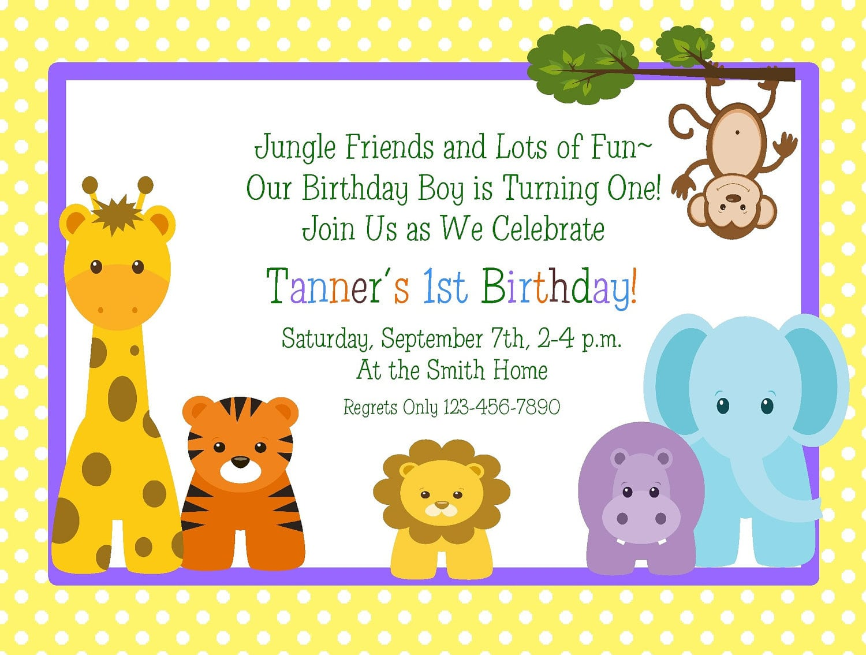 1st Birthday Invitation Printable Free