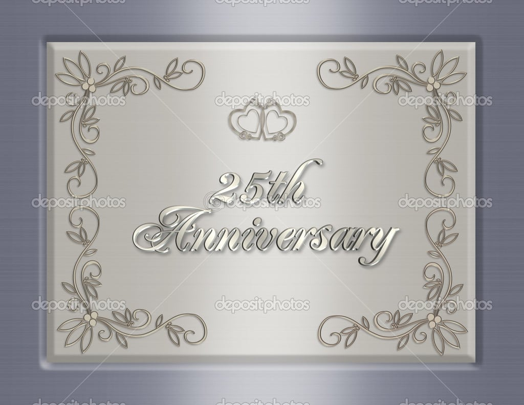25th Anniversary Invitation Cards Templates