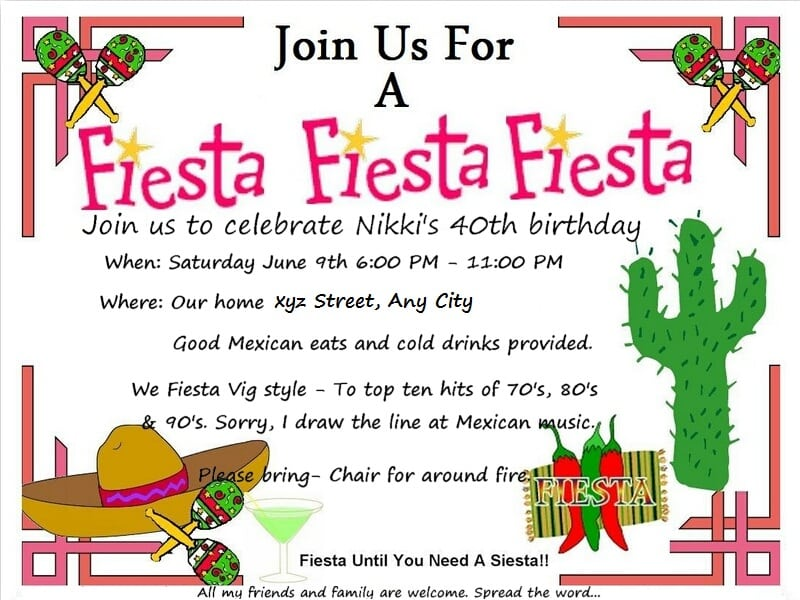 fiesta invitation template
