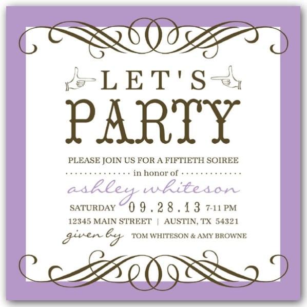 50th Birthday Invitation Images